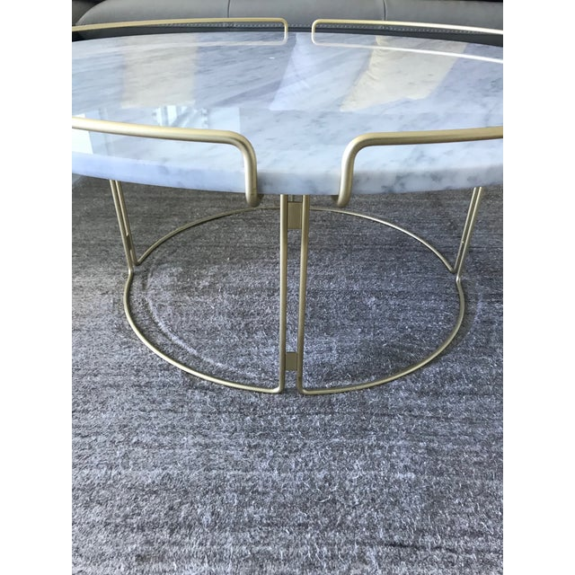 Bijou Cocktail Table in Marble and Matte Gold by Roche Bobois For Sale - Image 9 of 13