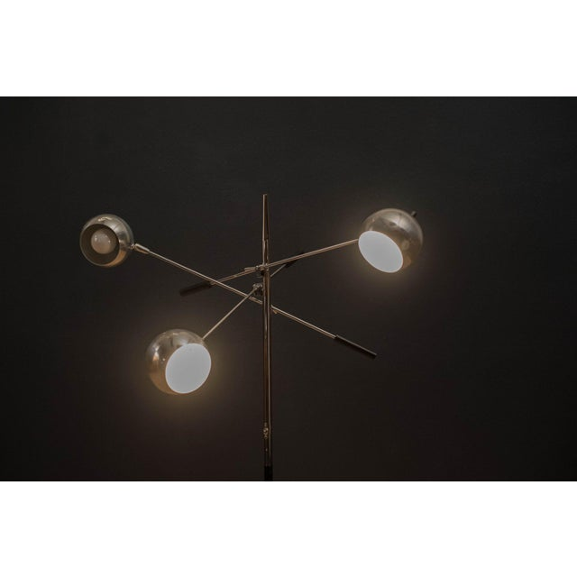 Robert Sonneman Mid-Century Modern Robert Sonneman Triennale Chrome Floor Lamp For Sale - Image 4 of 11