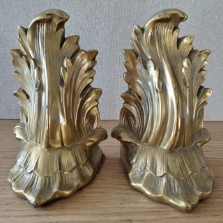 Mid Century Gold Metal Bookends, a Pair Preview