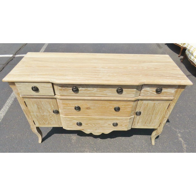 Louis XV Style Blonde Walnut Commode - Image 5 of 6
