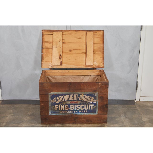 1900 - 1909 Large Crate with Advertising For Sale - Image 5 of 8