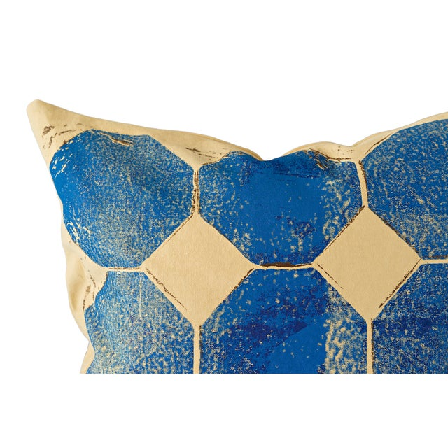 Blue Octagon Throw Pillow - Image 2 of 4