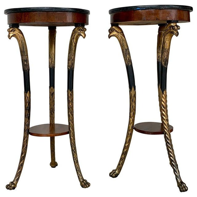 Pair of 19th Century Baltic Giltwood Eagle Motif Pedestals For Sale - Image 13 of 13