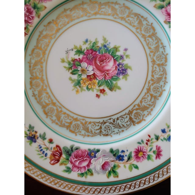 French Vintage Early 19th Century Charles Ahrenfeldt Limoges Service Plates - 12 Pieces For Sale - Image 3 of 6