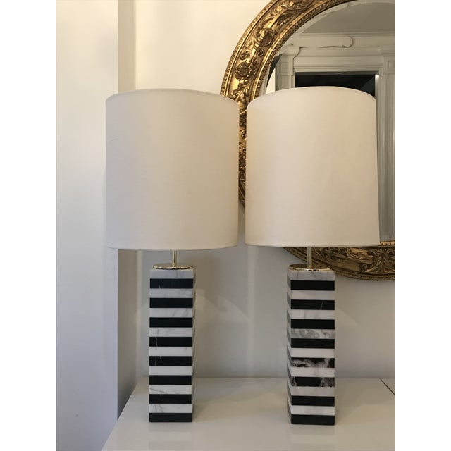 Arteriors black white marble table lamps a pair chairish arteriors black white marble table lamps a pair image 13 of 13 aloadofball Image collections