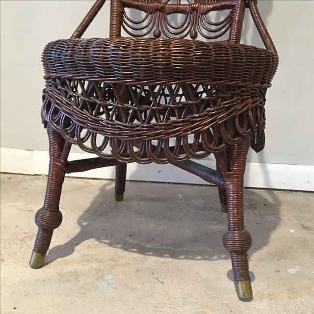 Heywood-Wakefield Victorian Wicker Chair - Image 8 of 11