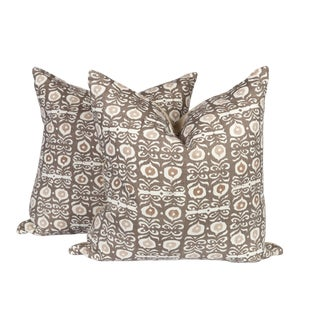 Rapture & Wright Iznik Boho Custom Linen Pillows, Pair
