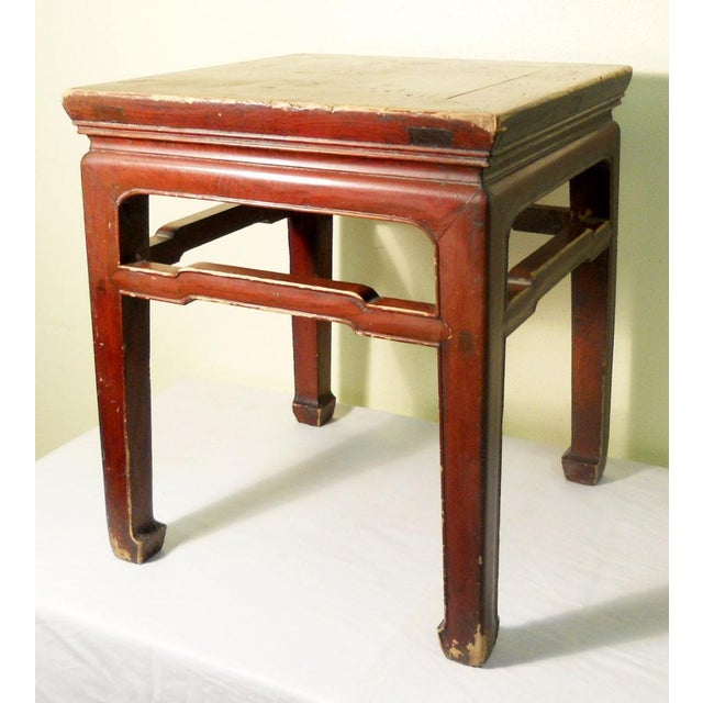 Asian Mid 19th Century Antique Ming Meditation Bench / Side Table For Sale - Image 3 of 11
