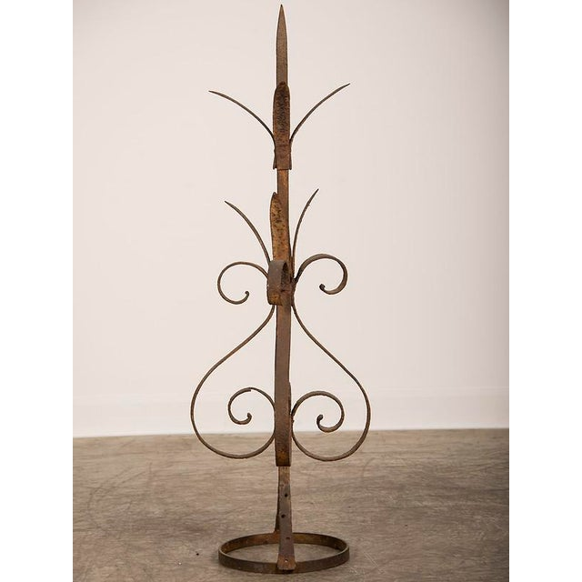 Antique Rustic French Hand-Forged Iron Finial, Normandy, circa 1880 - Image 3 of 6