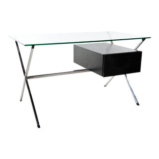 1990s Minimalist Albini for Knoll X Frame Glass Top Desk