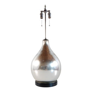 Mercury Glass Table Lamp For Sale