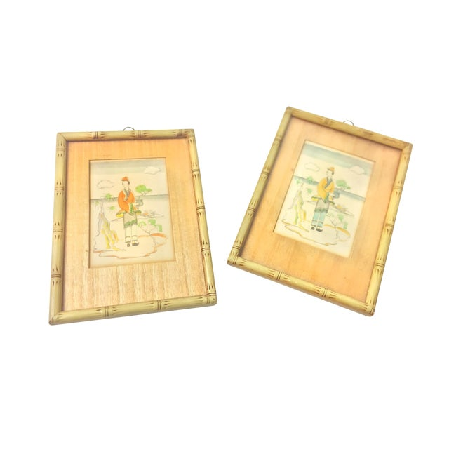 Set of Two Vintage 1930\'s Water Color Prints From \