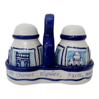 French Salt & Pepper Shakers - 3 Pieces For Sale