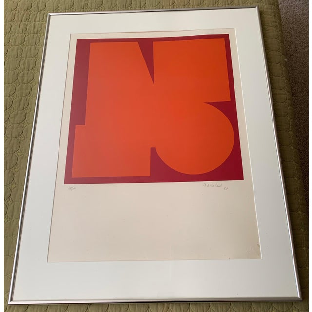 1960s 1960s Vintage Jo Delahaut Abstract Geometric Serigraph Silkscreen Print For Sale - Image 5 of 9