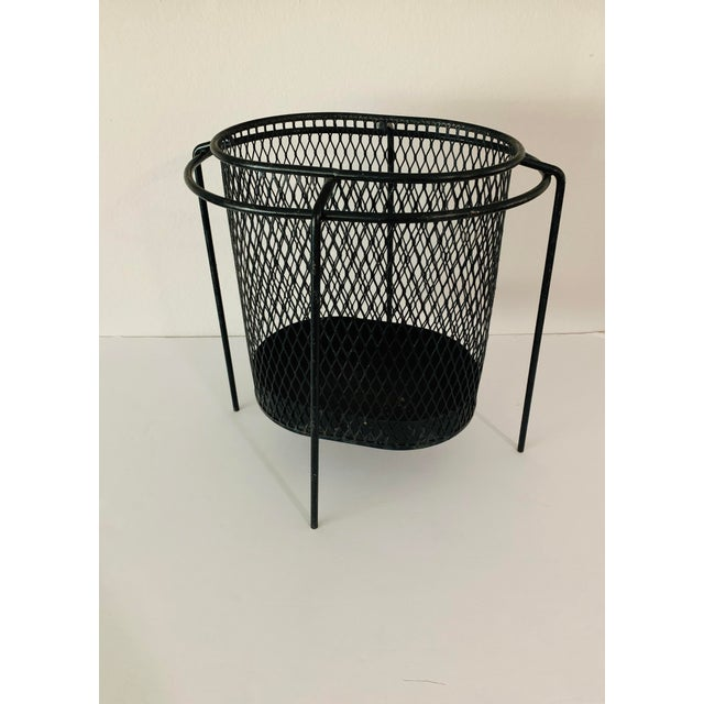 Maurice Duchin Floating Iron Mesh Wastebasket Trash Can For Sale - Image 11 of 12