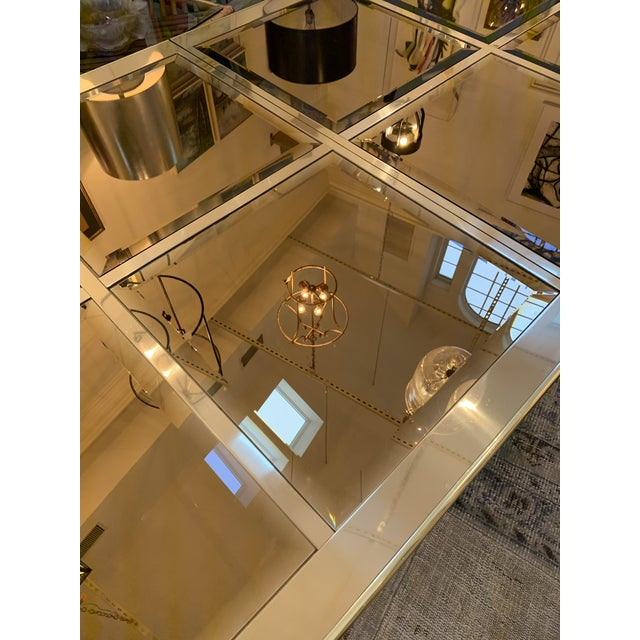 Mid-Century Modern Mastercraft Brass Dining Table For Sale - Image 3 of 8