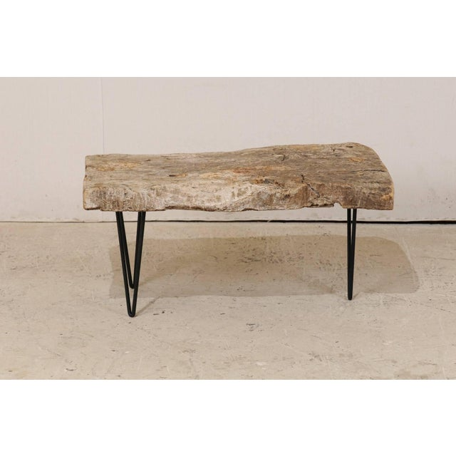 19th Century Rustic Custom-Made Coffee Table of Old Natural Coffee Table For Sale - Image 5 of 8