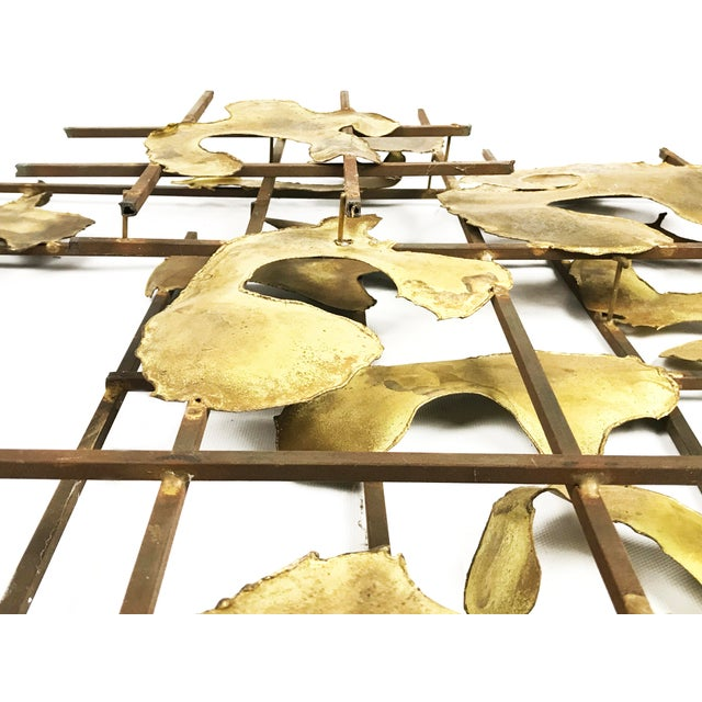 Abstract Vintage Authentic Art Piatt Signed Mid-Century Brutalist Wall Sculpture Piece For Sale - Image 3 of 6