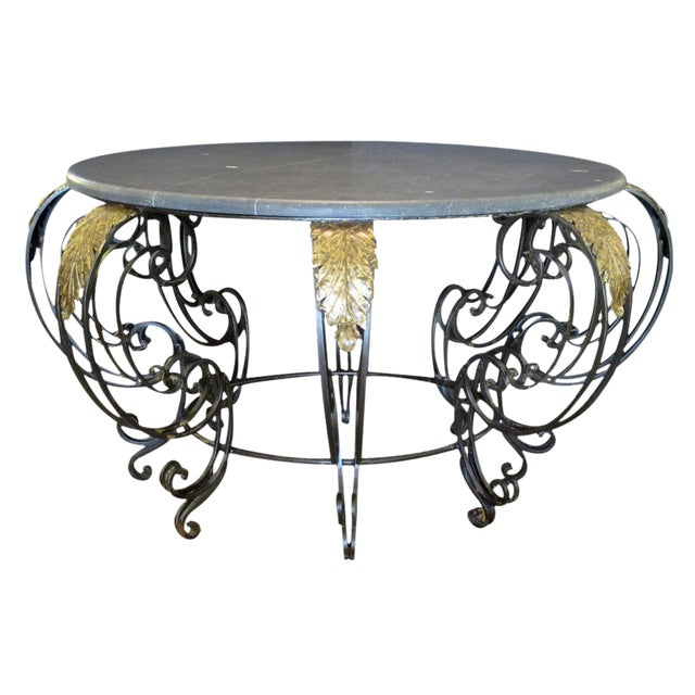 A Curvaceous French Rococo Style Wrought-Iron Center Table For Sale