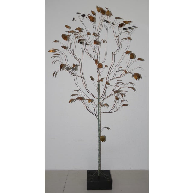 1960s Copper Metalwork Free Standing Tree by Curtis Jere For Sale - Image 9 of 9