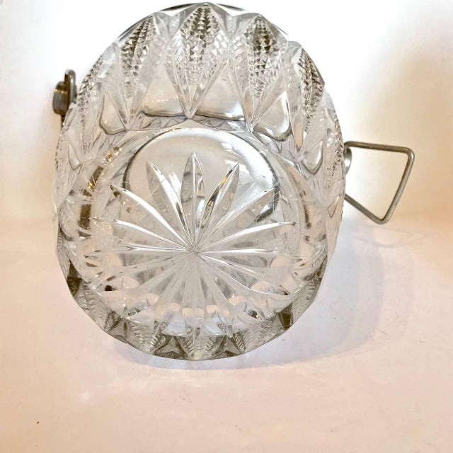 Cut Crystal and Silver Plate Ice Bucket, 20th Century For Sale - Image 4 of 5