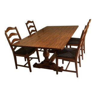 Bausman & Company Country English Dining Set For Sale