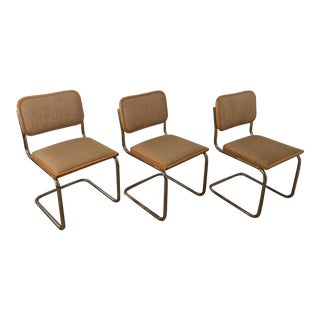 1970s Vintage Marcel Breuer Collection Cesca Cantilever Chairs- Set of 3 For Sale