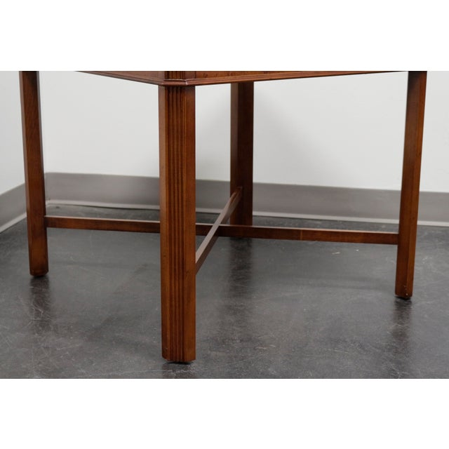 Wood Drexel Heritage Yorkshire Yew Wood Chippendale Accent Table For Sale - Image 7 of 9