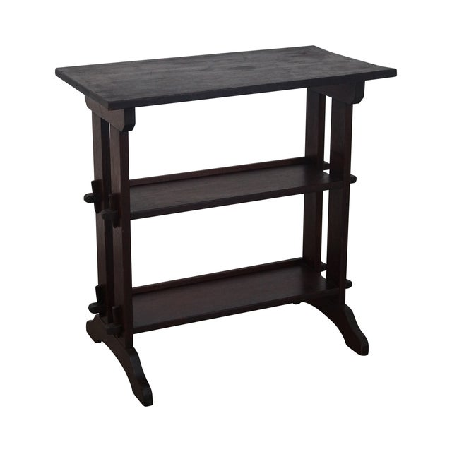 Roycroft Antique Mission Mahogany Journeys Stand For Sale