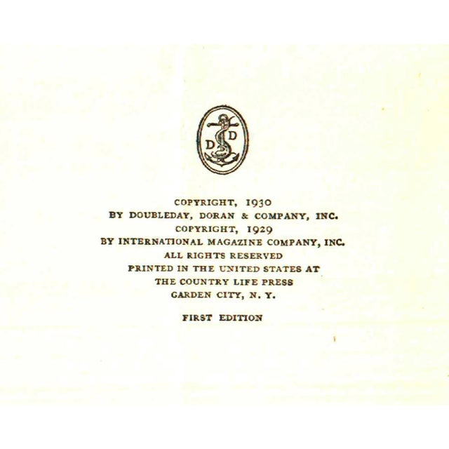 """Booth & Williams 1930 """"First Edition, the Gentleman in the Parlour"""" Collectible Book For Sale - Image 4 of 5"""