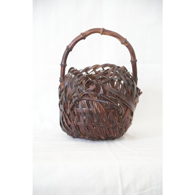 Japanese Woven Basket - Image 2 of 4