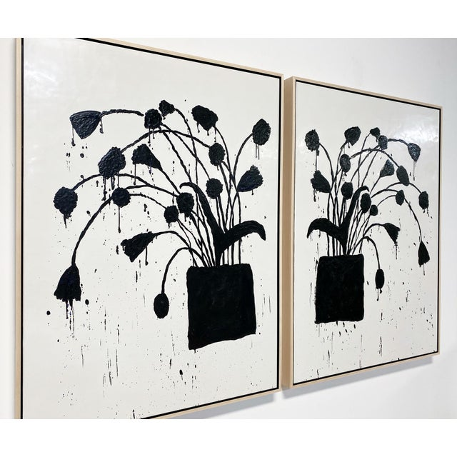 In Botanical series. Art Dimensions: 36 x 48 h inches, each panel Framed Dimensions: 37.5 x 49.5 inches, each panel...