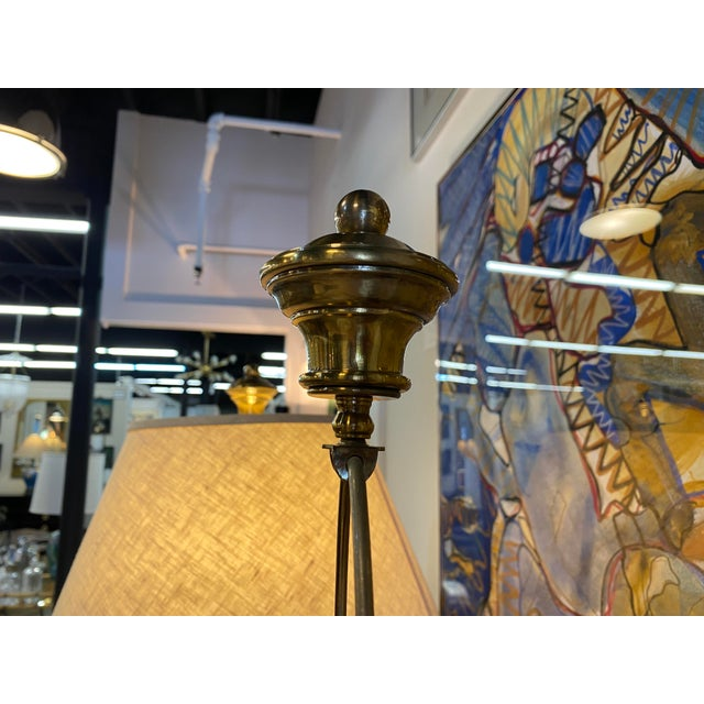 Pair of 1970s Chapman Manufacturing Vintage Brass Lamps For Sale - Image 12 of 13