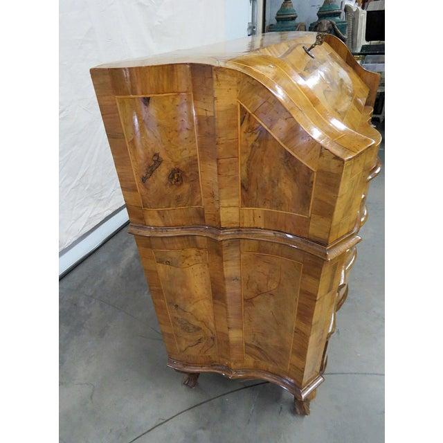 Vintage Olivewood Secretary Desk For Sale - Image 10 of 11