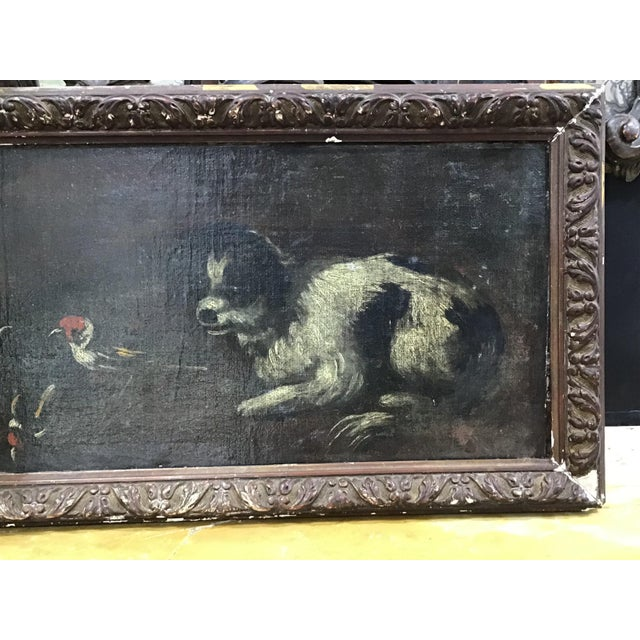 18th Century Italian Dog Painting For Sale - Image 4 of 11