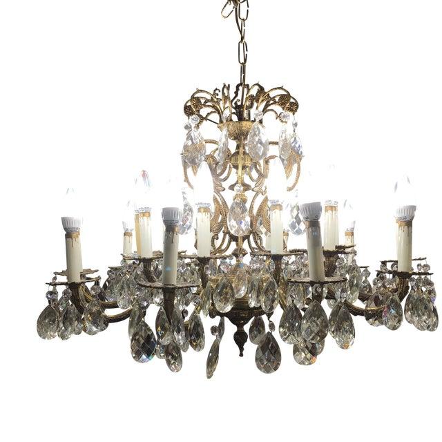 Vintage Twenty Light Crystal Chandelier - Image 1 of 11
