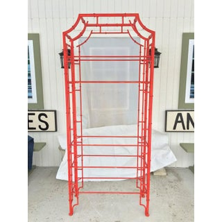 Chinese Chippendale Pagoda Faux Bamboo Iron Etagere Preview