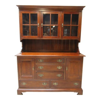 Stickley Furniture Cherry Chippendale China Cabinet For Sale