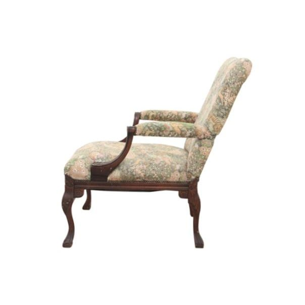 Louis XV Style Jungle Fauteuil and Ottoman - Image 4 of 9