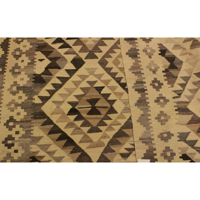 Textile Susanne Ivory/Brown Hand-Woven Kilim Wool Rug -6'0 X 7'10 For Sale - Image 7 of 8