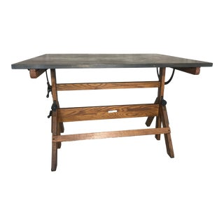 Vintage Industrial Hamilton Drafting Table For Sale