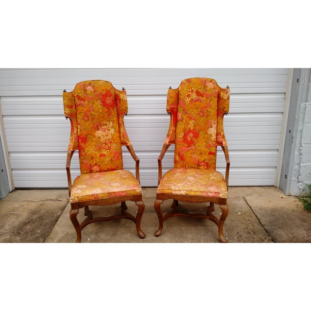Jim Peed Esperanto Drexel Wingback Chairs - A Pair - Image 2 of 11