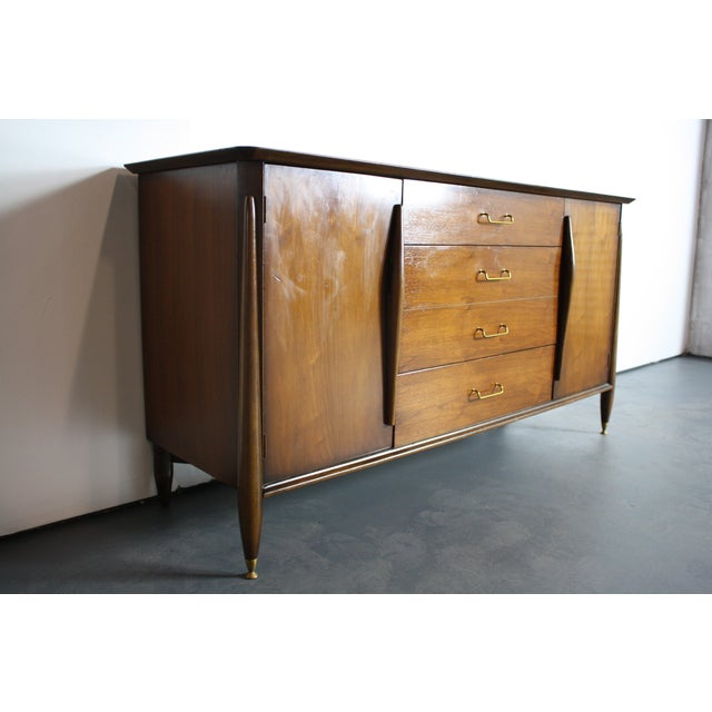 Mid-Century Modern Huntley Mid-Century Modern Architectural Dresser For Sale - Image 3 of 11