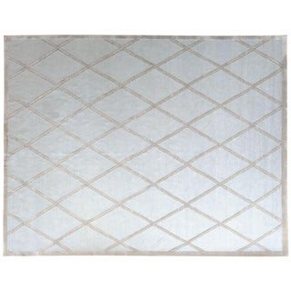 Stark Studio Rugs Contemporary New Oriental Tibetan Linen Rug - 6′1″ × 8′11″ For Sale