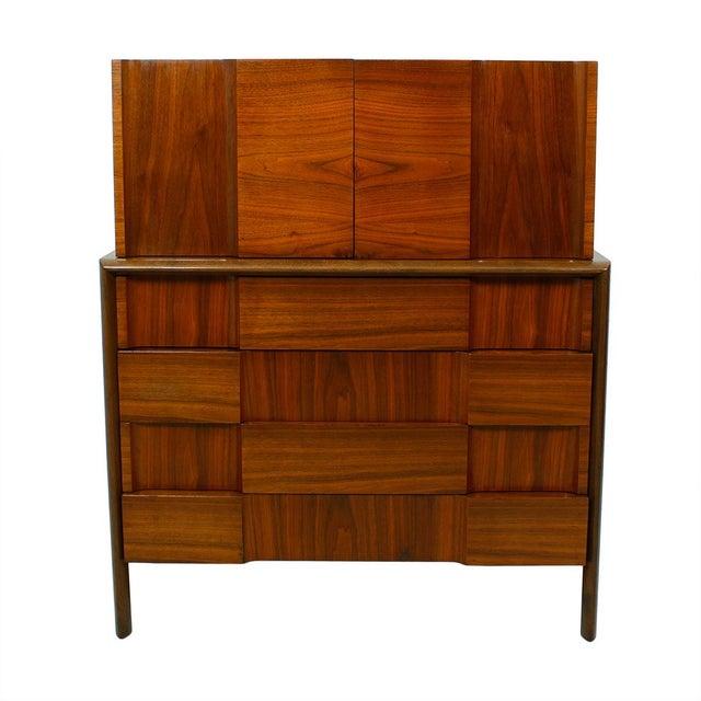 Swedish Modern Walnut Dresser by Edmund Spence - Image 2 of 10