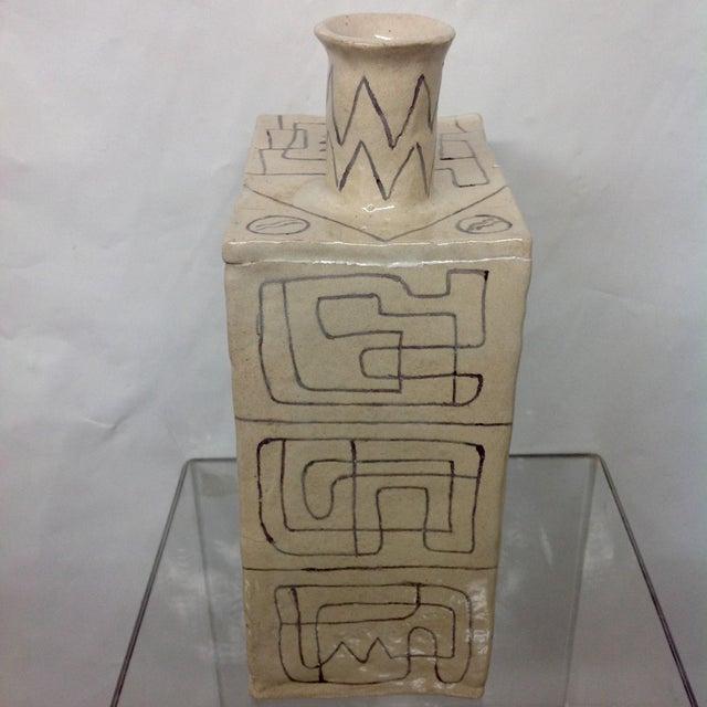 Carved Studio Pottery Vase - Image 5 of 8