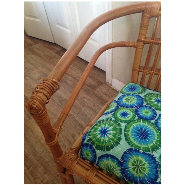 Vintage Mid-Century Rattan Side Chair - Image 6 of 6