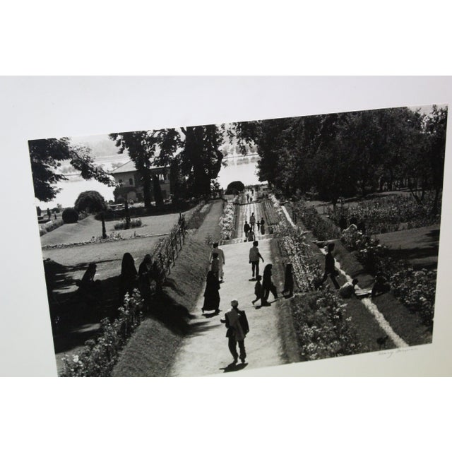 Black & White Photography Mughal Garden Kashmir Garden Photograph For Sale - Image 7 of 10