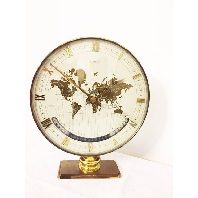 Art Deco Large Modernist Table Clock by Kienzle, 1960s For Sale - Image 3 of 8