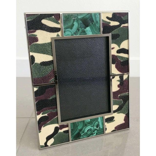 Modern Camoflauge Shagreen Photo Frame by Fabio Ltd For Sale - Image 3 of 7